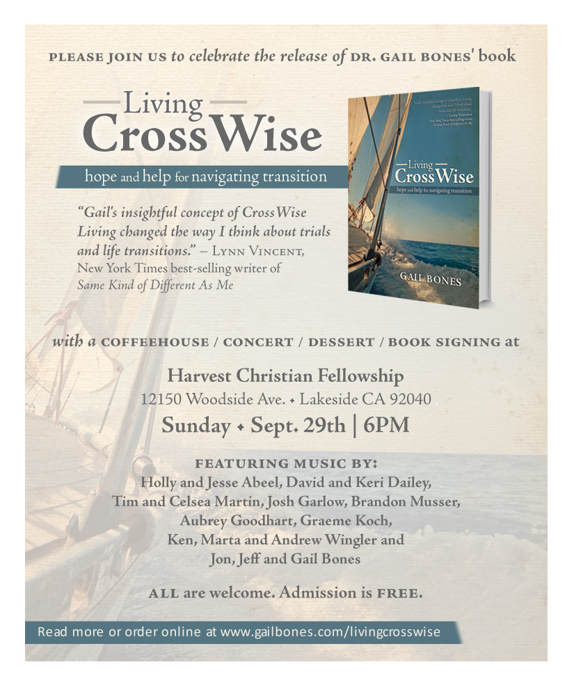 Living CrossWise Book Launch Sept. 29th 6PM